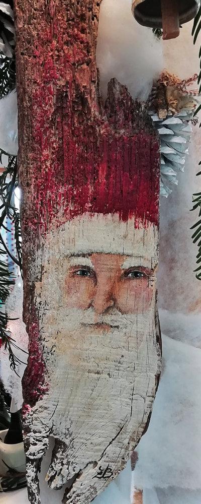 Babbo Natale su legno